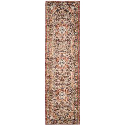 Bijar Brown/Rust 2 ft. x 12 ft. Runner