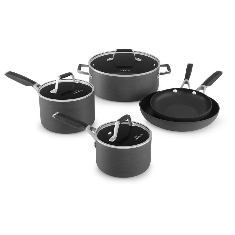 Calphalon Select 8-Piece Hard Anodized Nonstick Cookware ...