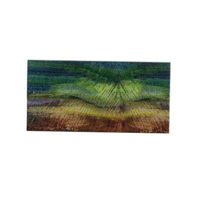 Peel and Stick Van Gogh Watercolors Glass Wall Tile - 6 in. x 3 in. Tile sample