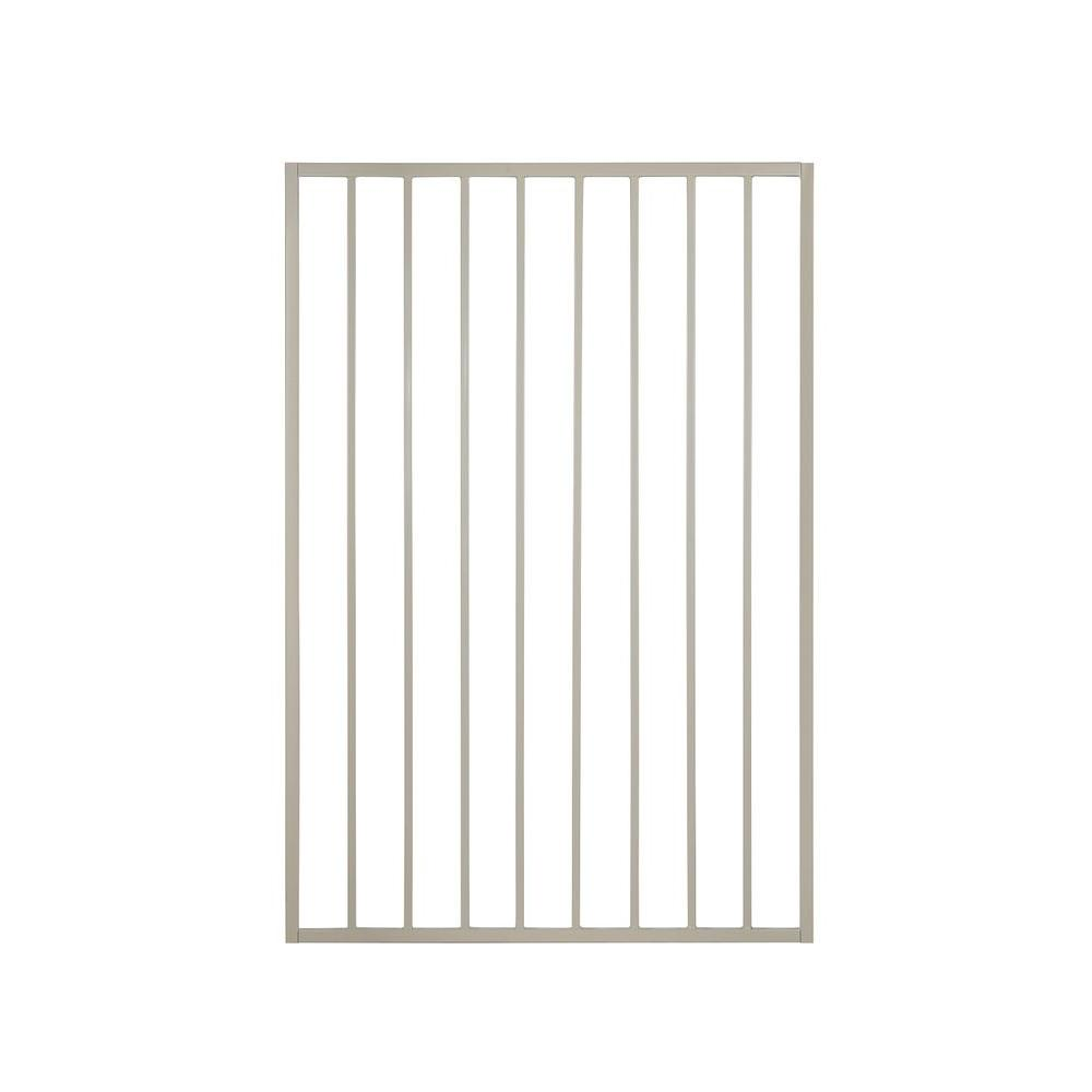 Pro Series 3 ft. x 5 ft. Navajo White Steel Fence
