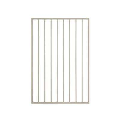 Pro Series 3 ft. W x 5 ft. H Navajo White Steel Fence Gate