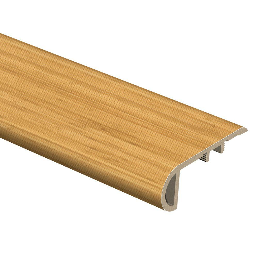 Zamma Strand Bamboo 3/4 in. Thick x 2-1/8 in. Wide x 94 in. Length Vinyl Stair Nose Molding