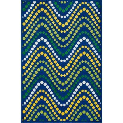 Gracie Lifestyle Collection Blue/Multi 2 ft. 7 in. x 3 ft. 11 in. Area Rug