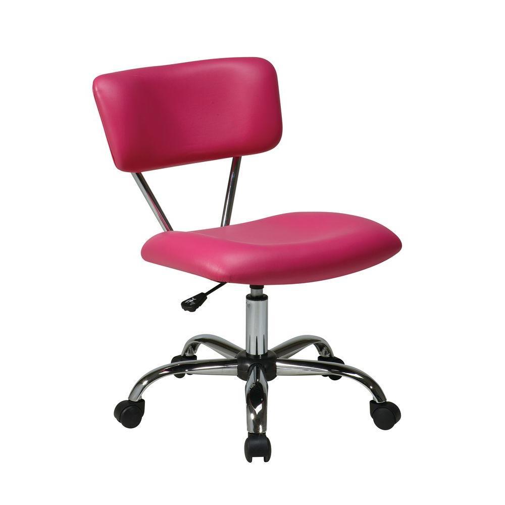 Vista Pink Vinyl Office Chair