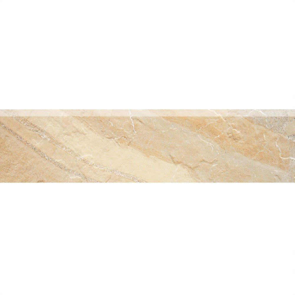 Daltile Ayers Rock Solar Summit 3 in. x 13 in. Glazed Porcelain Bullnose Floor and Wall Tile (0.32 sq. ft. / piece)