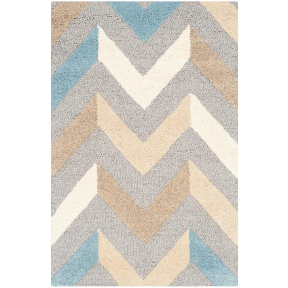 Cambridge Gray/Ivory 2 ft. 6 in. x 4 ft. Area Rug