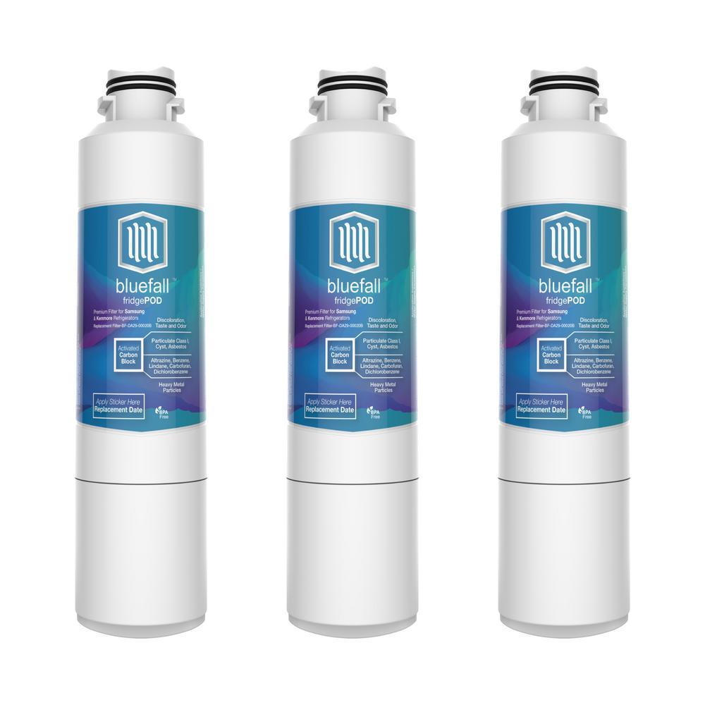BLU LOGIC USA Compatible Samsung DA29-00020B Refrigerator Water Filter by Blue Fall (3-Pack)