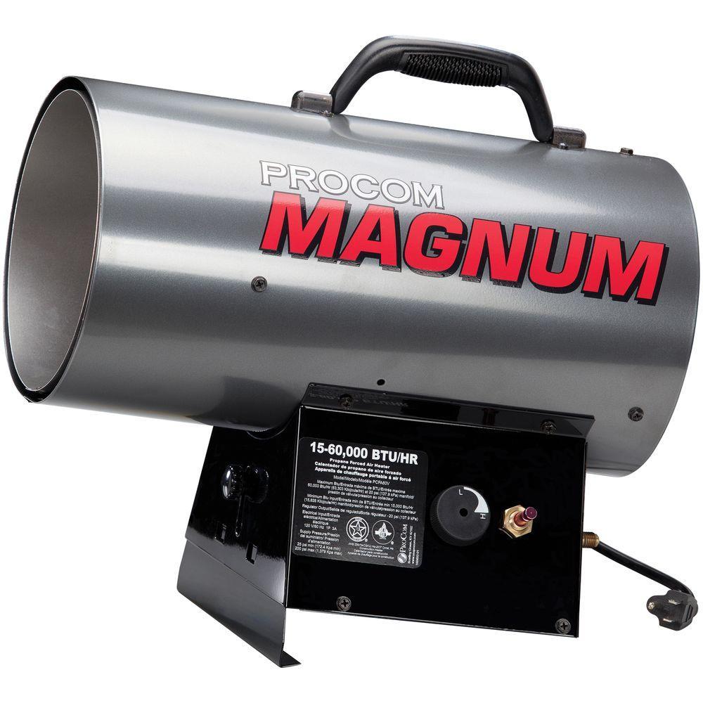 60,000 BTU Portable Liquid Propane Forced Air Heater