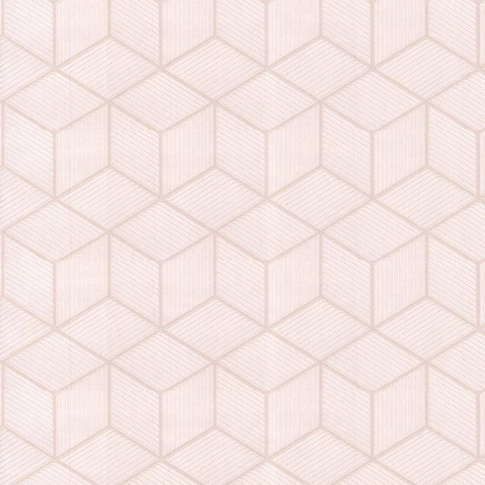 Graham & Brown 56 sq. ft. Cubix White Wallpaper-DISCONTINUED