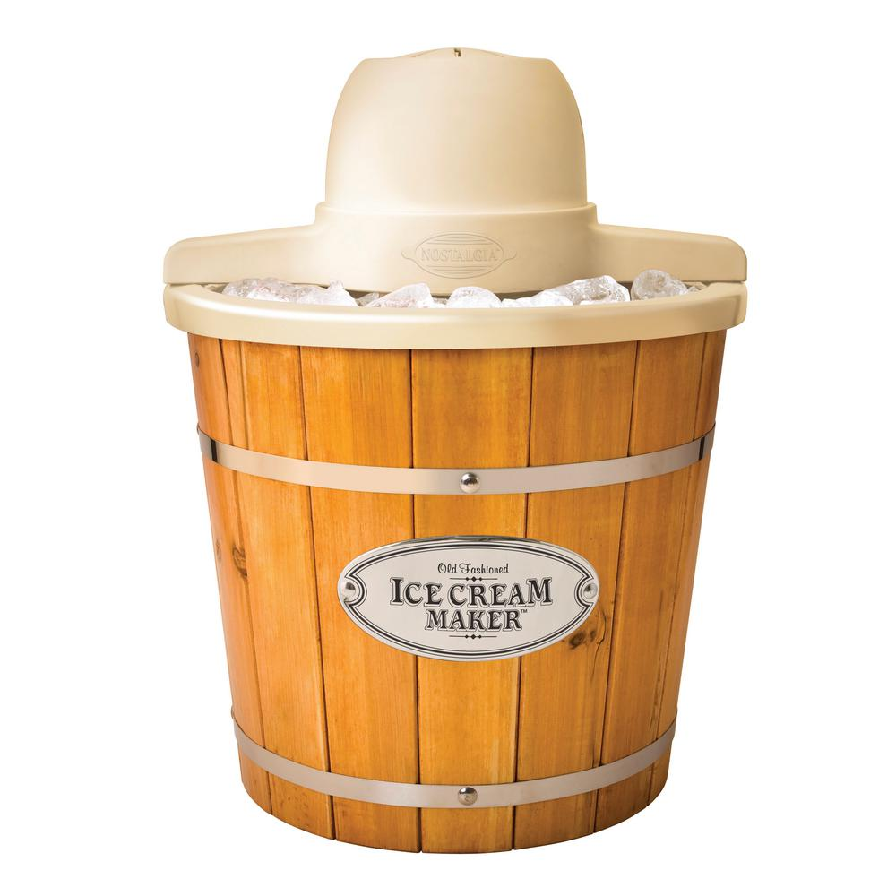 4 Qt. Wooden Bucket Ice Cream Maker