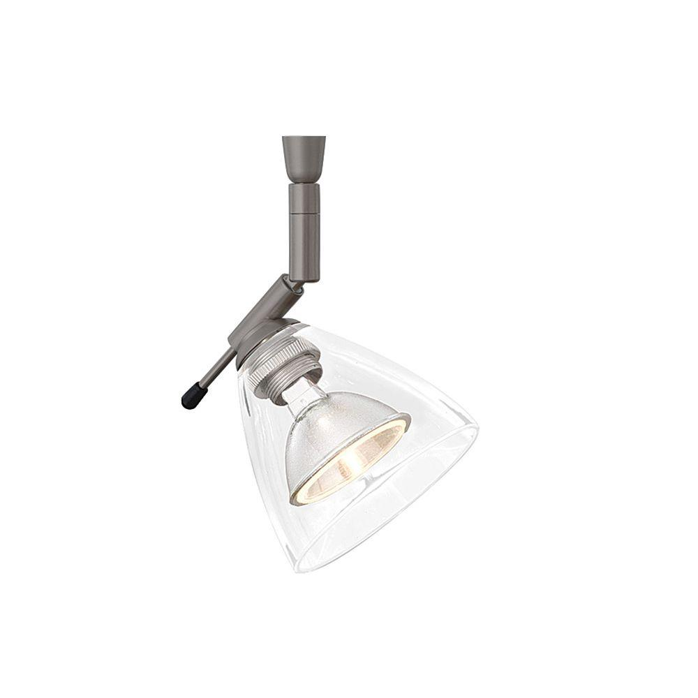 LBL Lighting Mini-Dome I Swivel I 1-Light Bronze Clear LED Track Lighting Head Mini-Dome I Swivel I 1 in. 1-Light Bronze Clear LED Track Lighting Head easily blends with your home's existing decor. This bronze finished clear glass fixture combines style and function. This is a low voltage head.