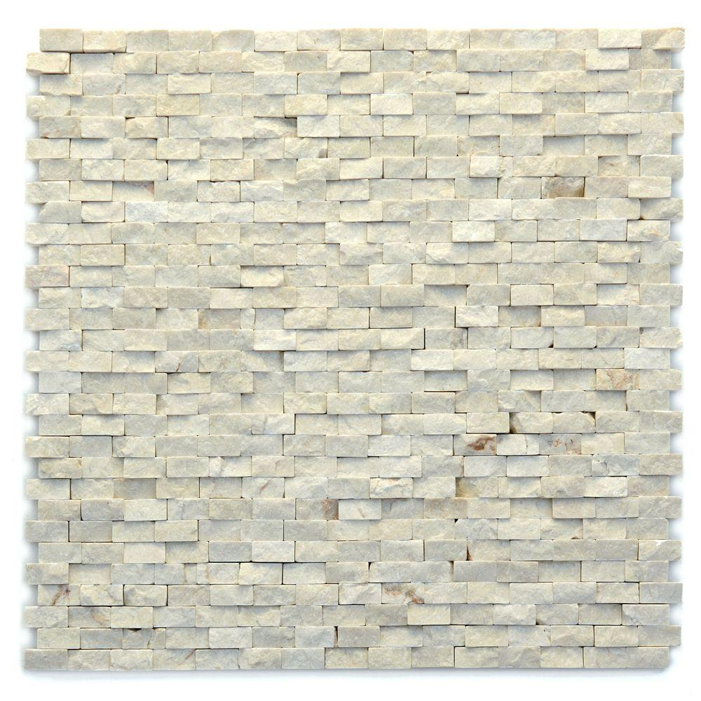 Solistone Modern Fauve 12 in. x 12 in. x 9.5 mm Marble Natural ...