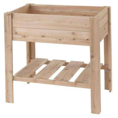 36 in. H x 25 in. W x 36 in. D Cedar Raised Garden Center