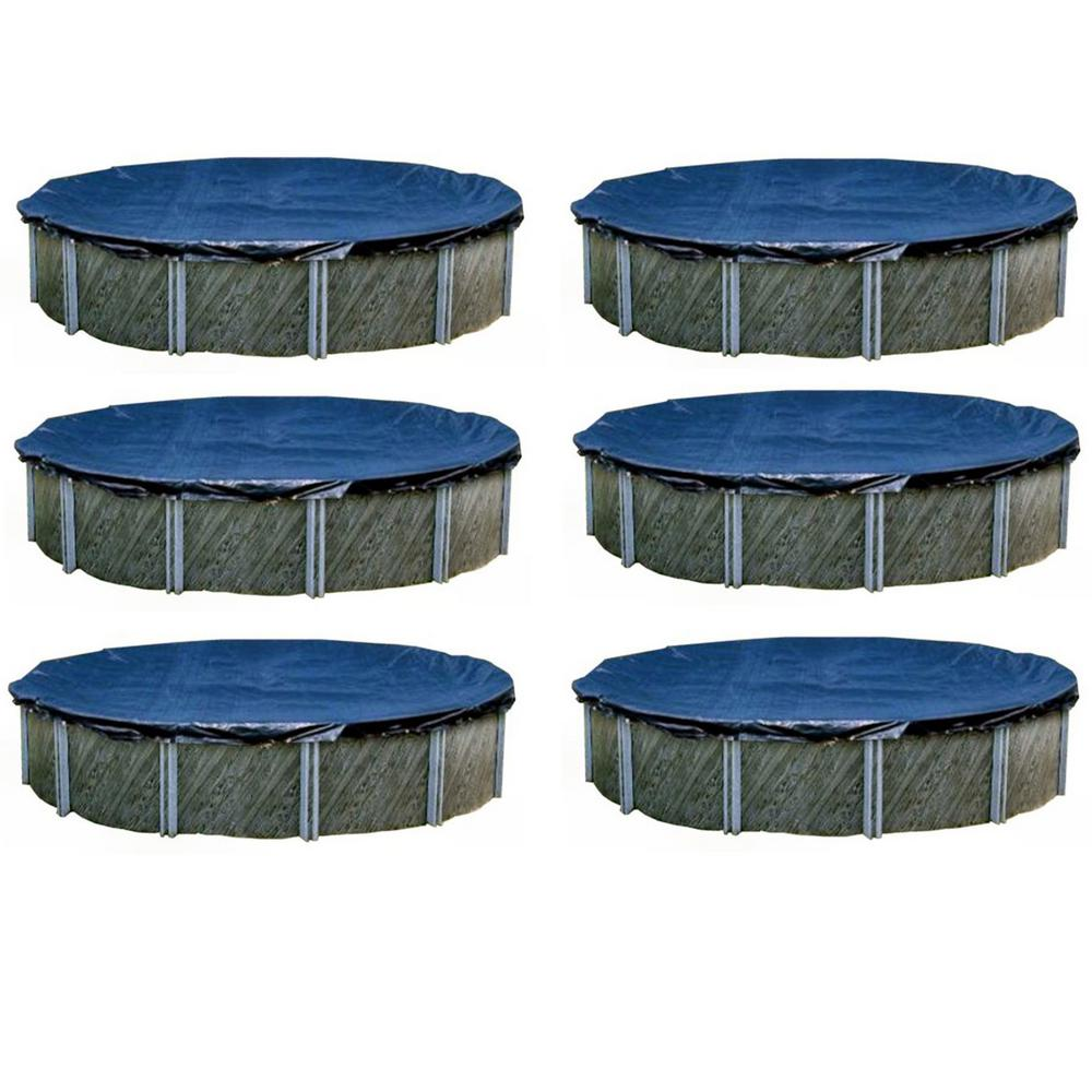 SWIMLINE 30 ft. L Round Heavy Above Ground Winter Swimming Pool Cover (6-Pack)