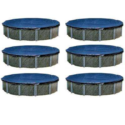 30 ft. L Round Heavy Above Ground Winter Swimming Pool Cover (6-Pack)