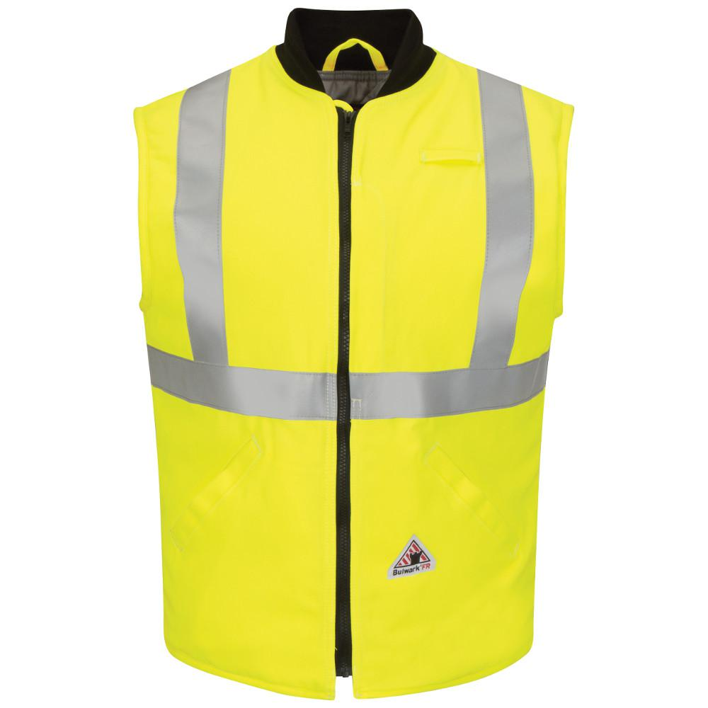 Men's 2X-Large (Tall) Yellow/Green Hi-Visibility Insulated Vest