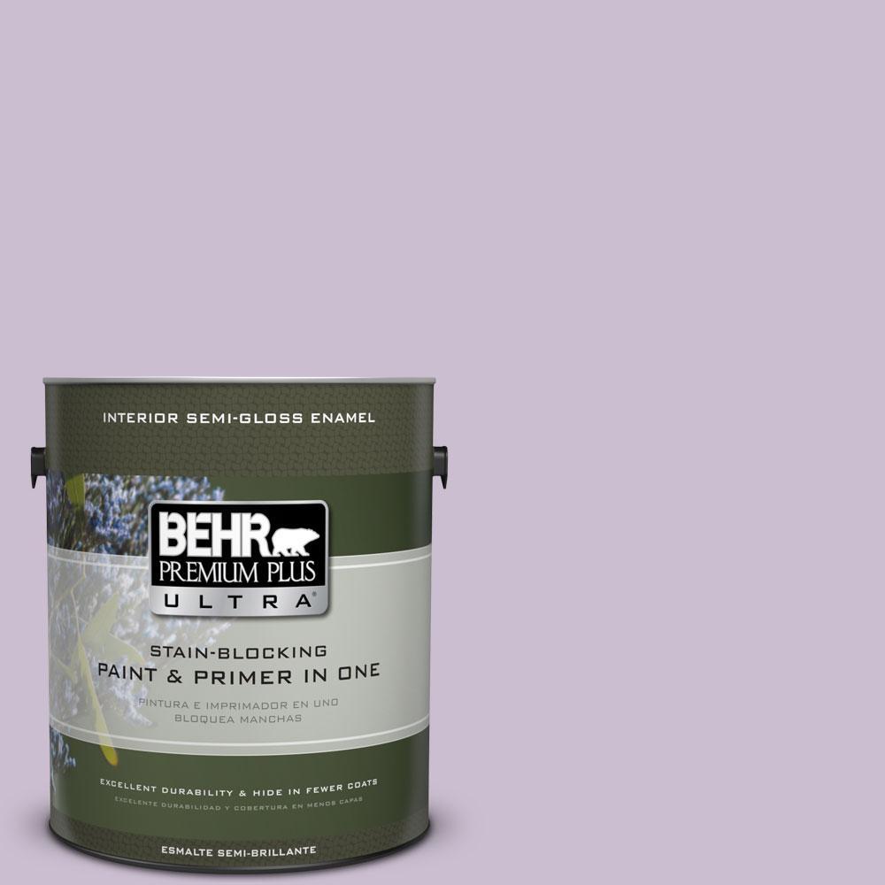 BEHR Premium Plus Ultra 1-gal. #S100-2 Romantic Poetry Semi-Gloss Enamel Interior Paint
