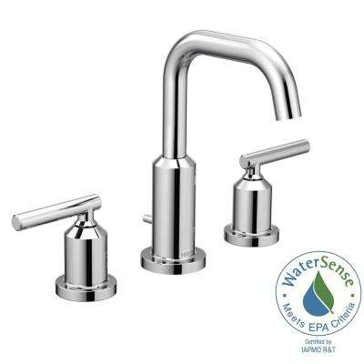 Gibson 8 in. Widespread 2-Handle High-Arc Bathroom Faucet in Chrome (Valve Sold Separately)