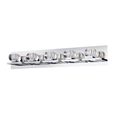 Casa Collection 5-Light Chrome and Clear Bath Light