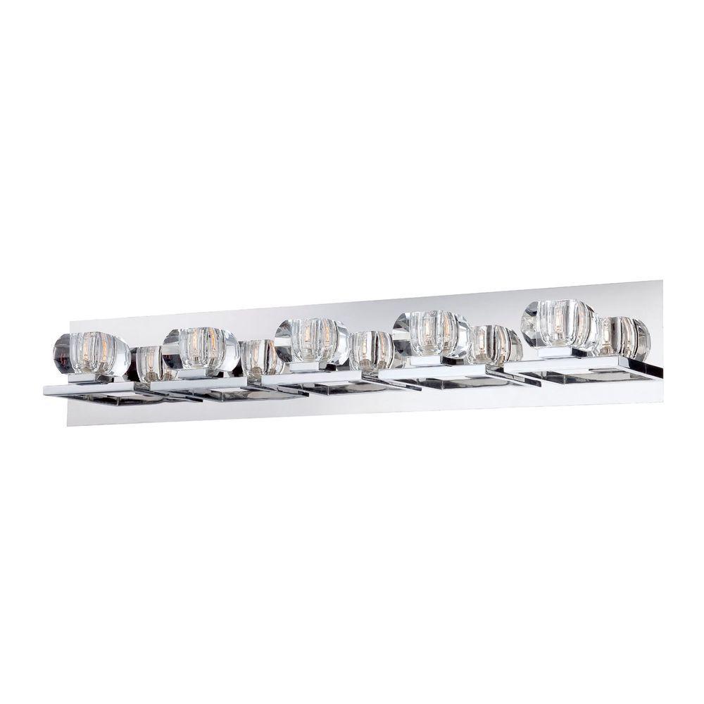 Casa Collection 5-Light Chrome and Clear Bath Light