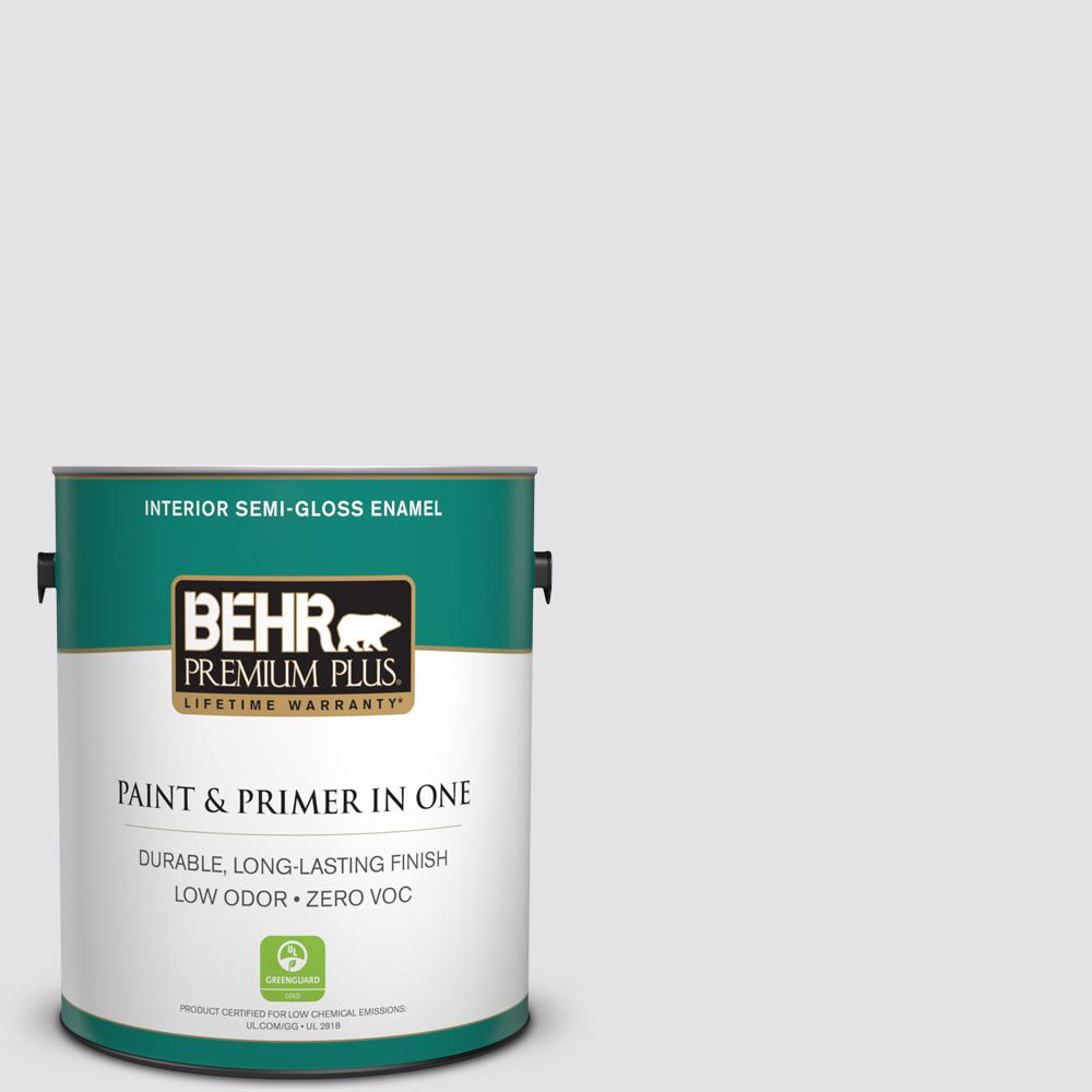 BEHR Premium Plus 1-gal. #PR-W2 Early Crocus Semi-Gloss Enamel Interior Paint