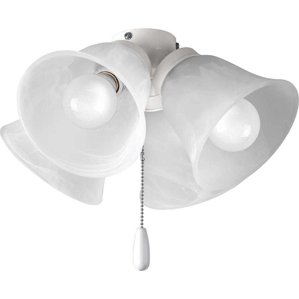 Progress Lighting Fan Light Kits Collection 4 Light White