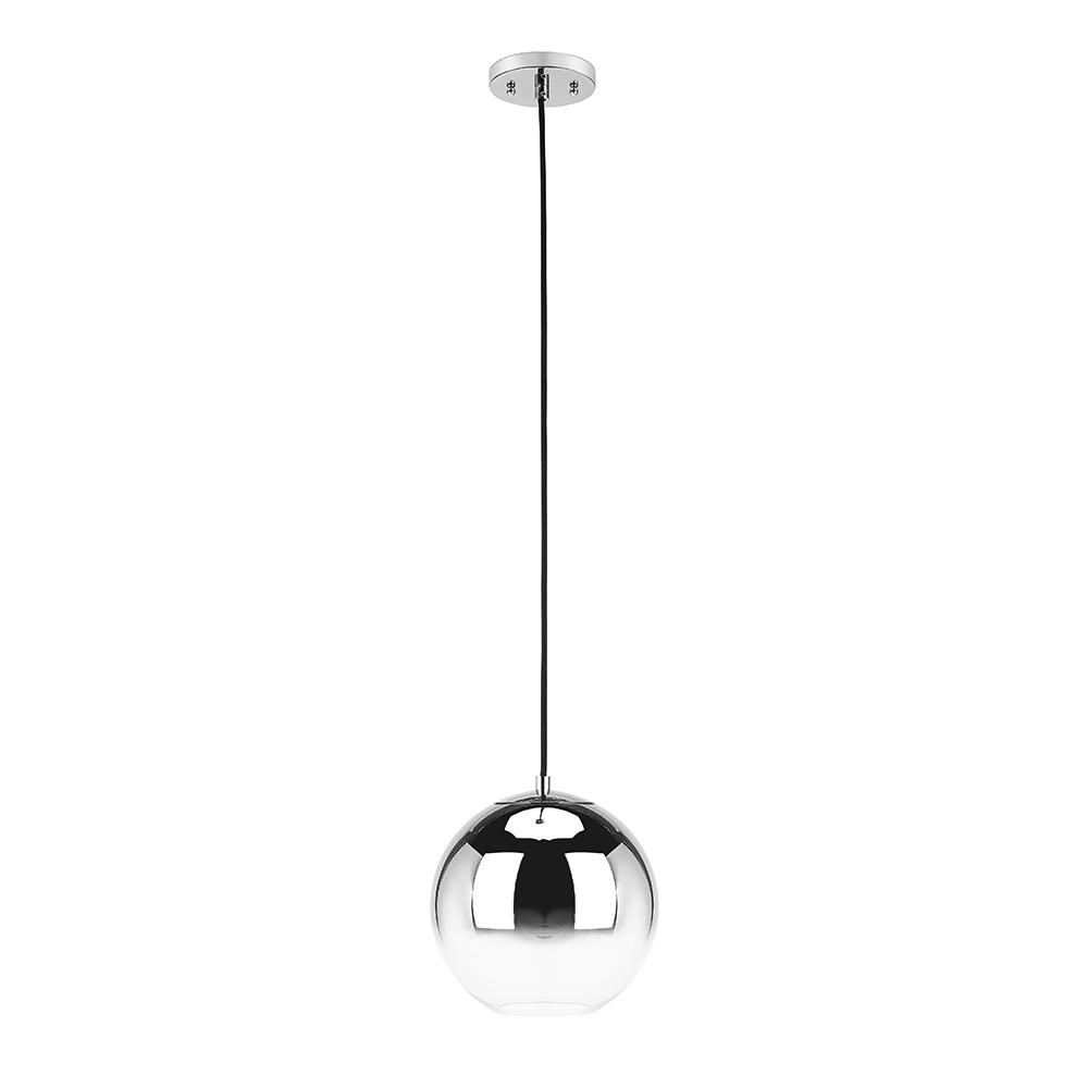 Home Decorators Collection 1-Light Ombre Chrome Glass Mini Pendant