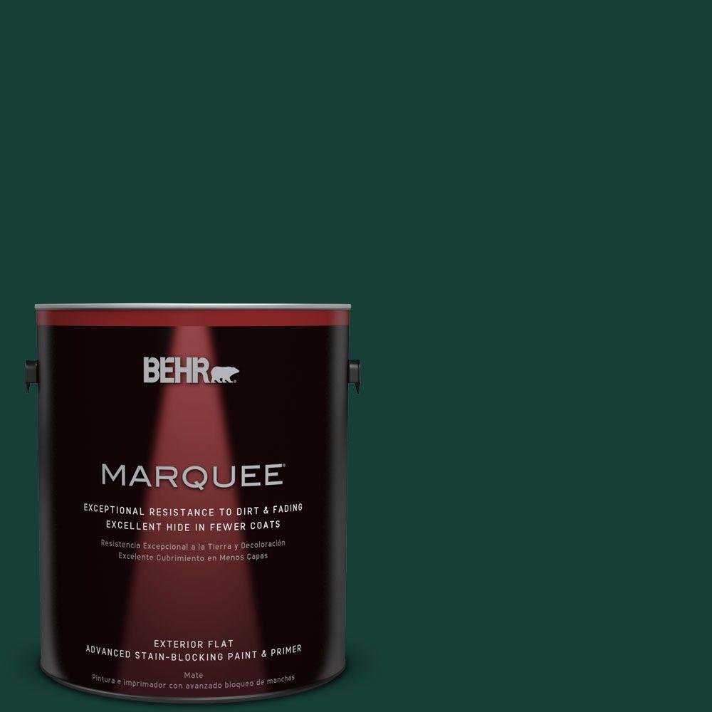 1-gal. #ECC-51-3 Hidden Forest Flat Exterior Paint