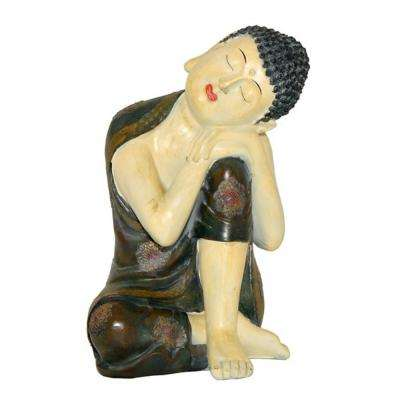 Sleeping Polyresin Buddha with Left Knee Up
