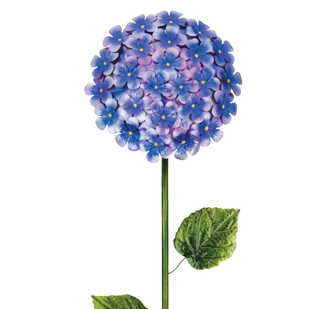 49 in. Hydrangea Flower Stake - Purple