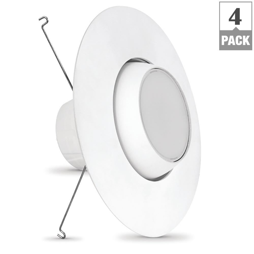 75W Equivalent Warm White 5/6 in. White Adjustable Recessed Retrofit Downlight