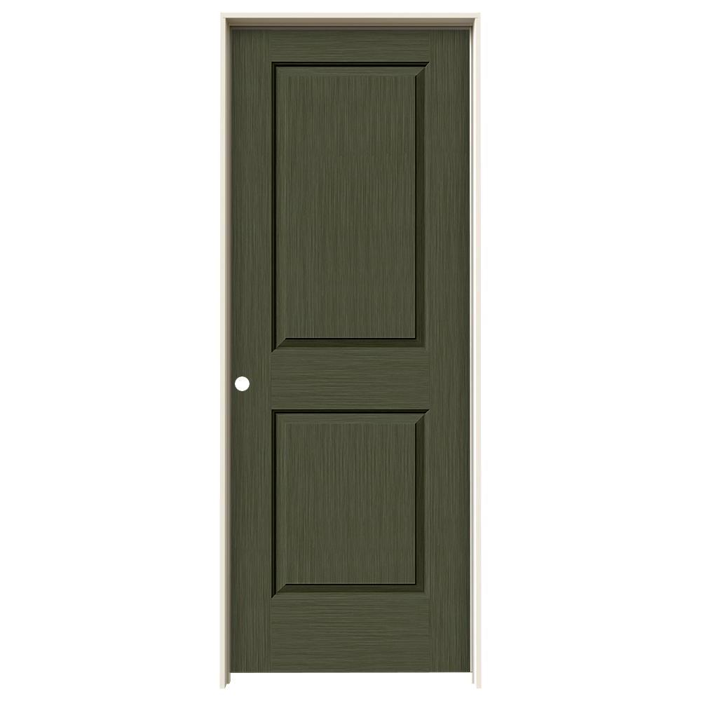 Cambridge Juniper Stain Right-Hand  sc 1 st  Home Depot & JELD-WEN 32 in. x 80 in. Cambridge Juniper Stain Right-Hand Solid ...