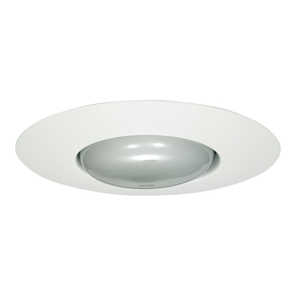 Halo 300 Series 6 In White Recessed Ceiling Light With Open Splay Trim