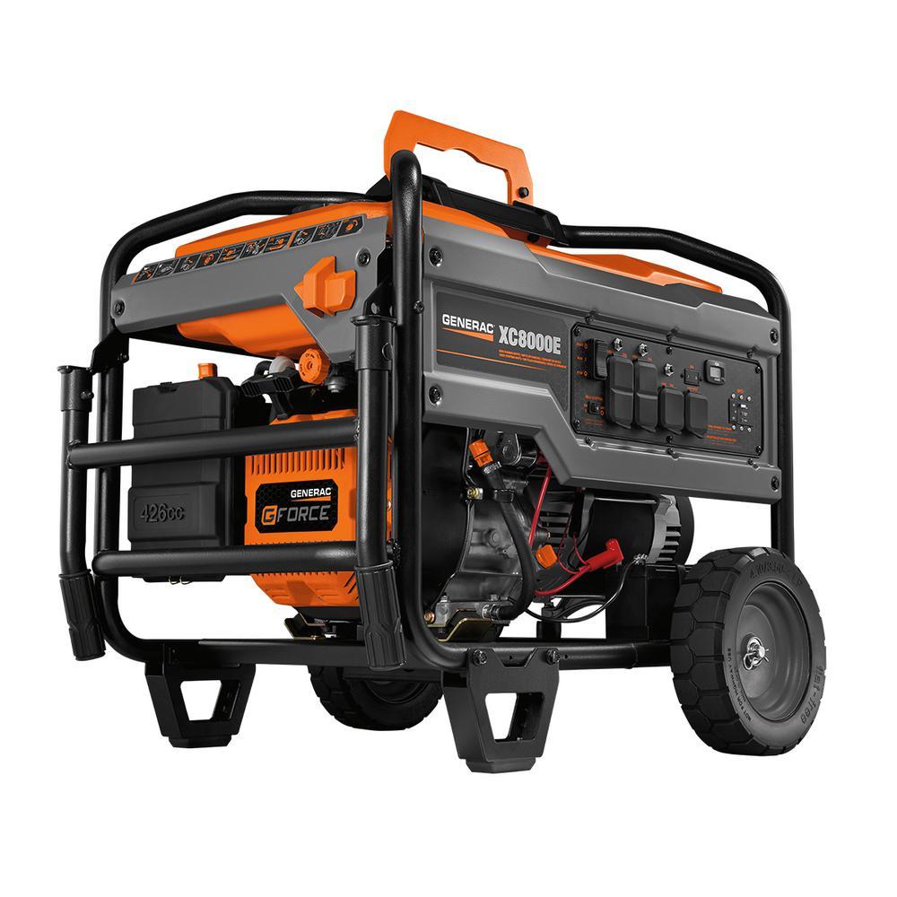 XC 8000-Watt Electric-Start Gasoline Powered Portable Generator, 49/CSA