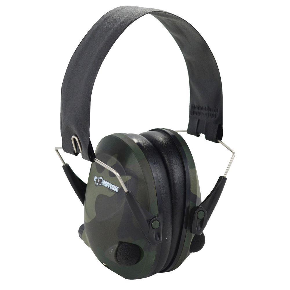 Electronic Ear Muff with 4 AAA in Camo