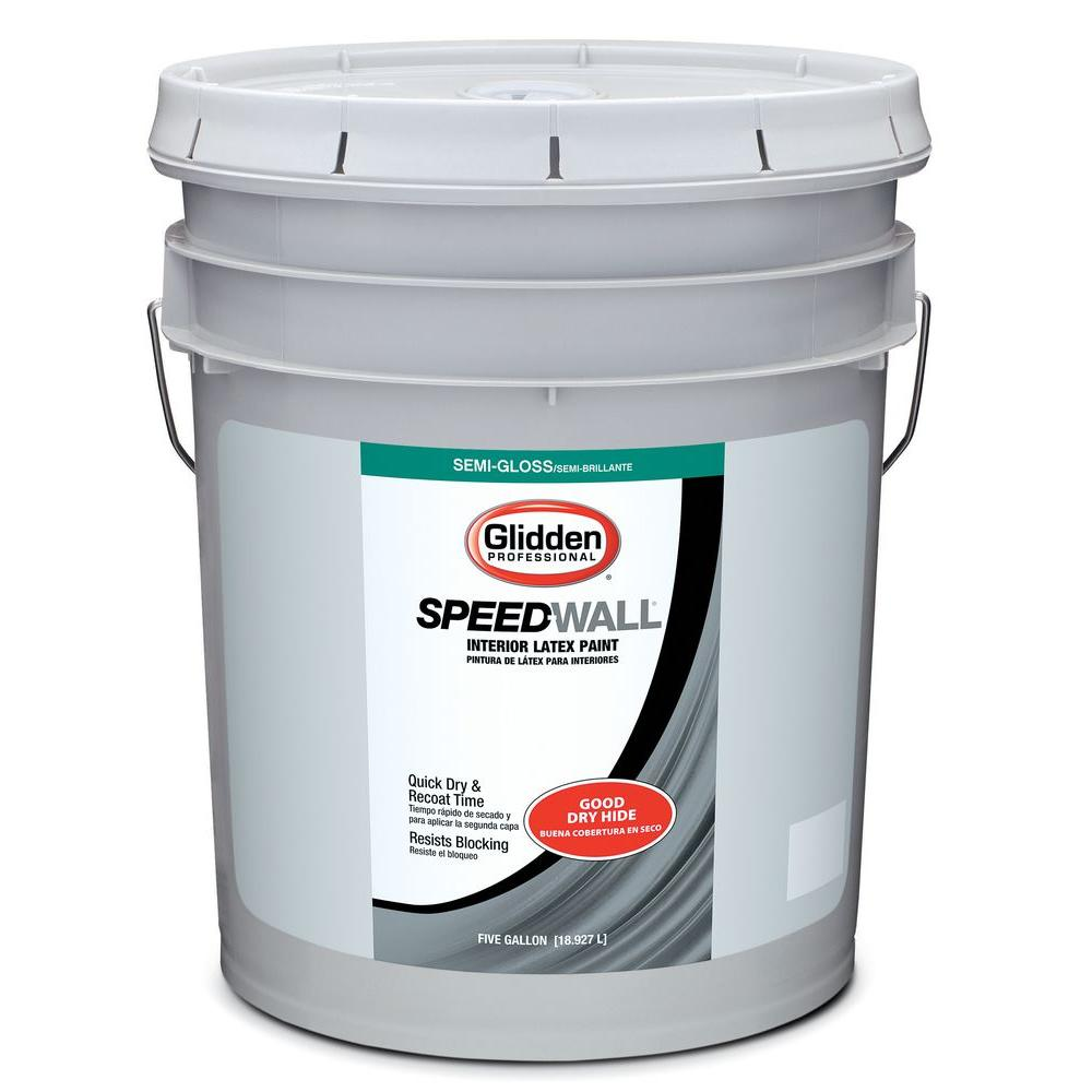 Glidden Professional 5 gal. Speed-Wall Semi-Gloss Interior Paint