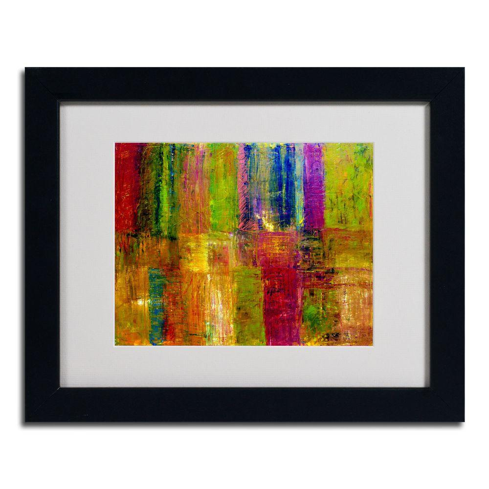 Trademark Fine Art 16 in. x 20 in. Color Abstract Black Framed Matted Art