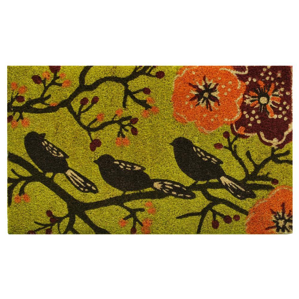 Birds in a Tree 24 in. x 36 in. Door Mat