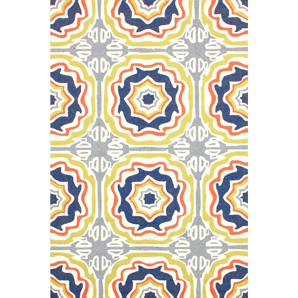 Sevilla Tiles Indoor/Outdoor Multi 5 ft. x 8 ft. Area Rug