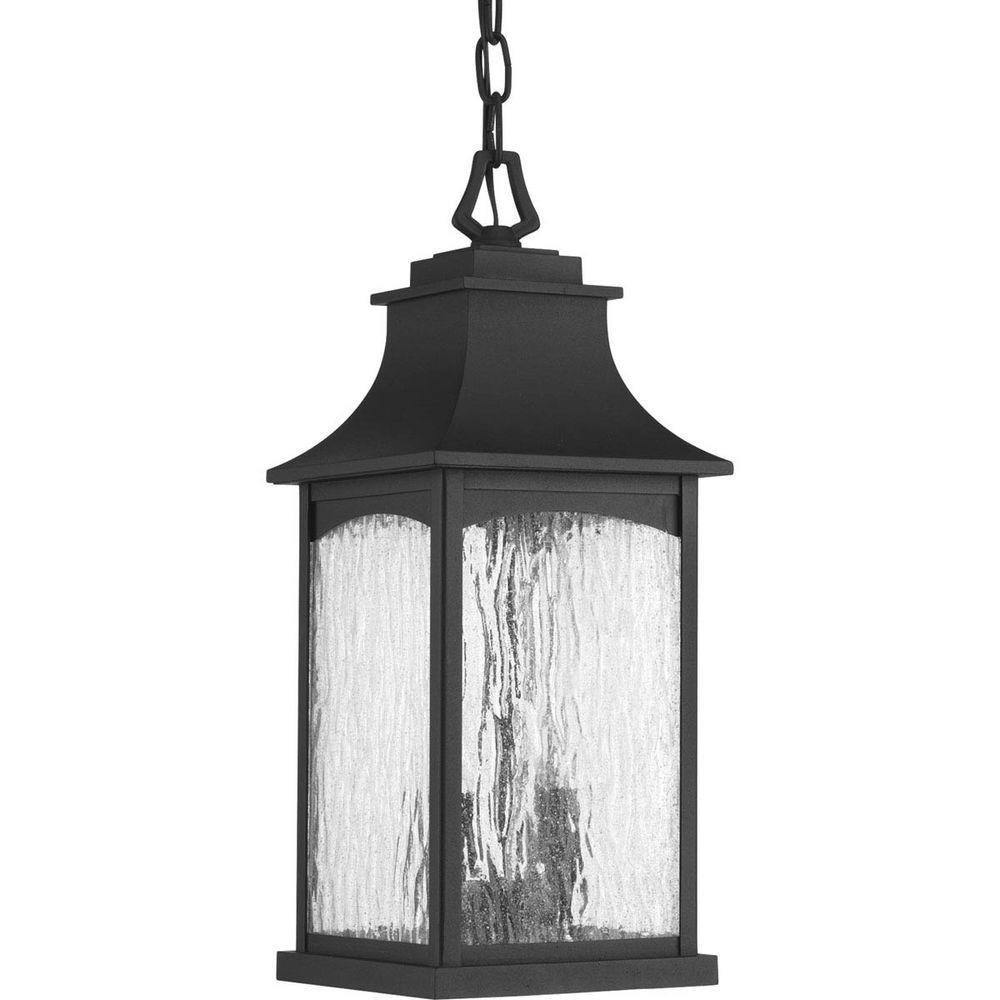 Maison Collection 2-Light Outdoor Black Hanging Lantern