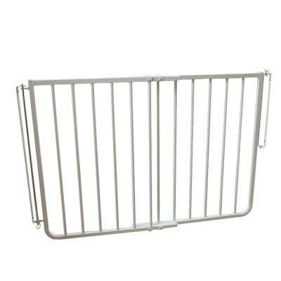 30 in. H x 27 in. to 42.5 in. W x 2 in. D White Stairway Special Safety Gate