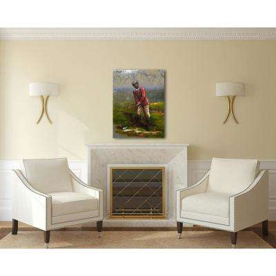 "30 in. x 39 in. ""On Par"" Metal Wall Art"