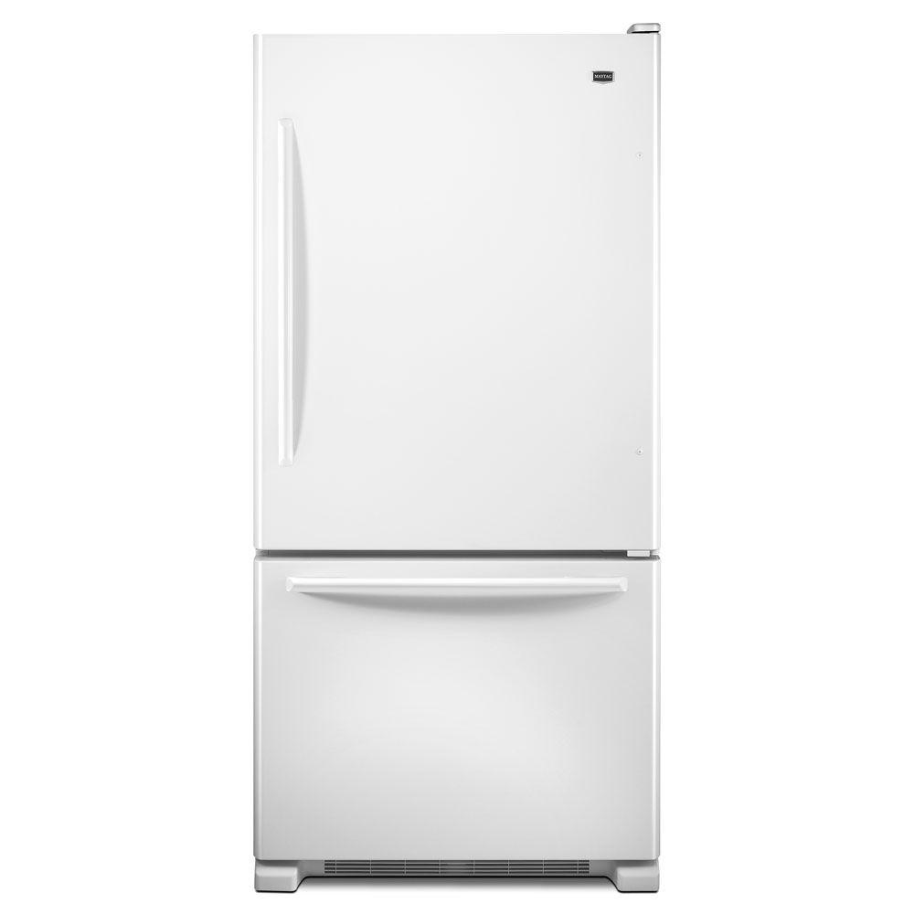 Maytag EcoConserve 33 in. W 21.9 cu. ft. Bottom Freezer Refrigerator in White-DISCONTINUED