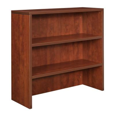 Legacy 35 in. Rectangular Cherry Computer Desk with Hutch