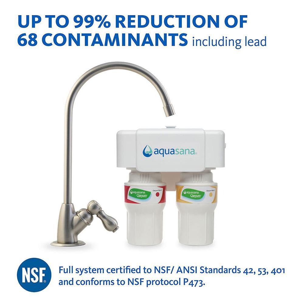 Aquasana 2-Stage Under Counter Water Filtration System with ...