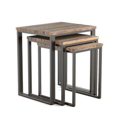 Copley Brown 3-Piece Stacking End Table Set