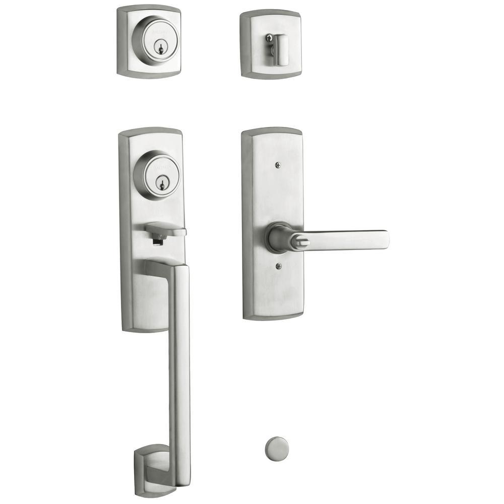 Baldwin Soho 2-Point Lock Single Cylinder Satin Chrome Left-Handed Door Handleset with... by Baldwin