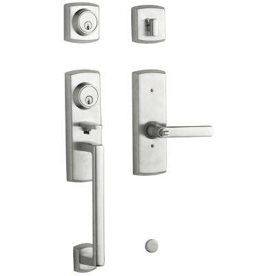 Soho 2-Point Lock Single Cylinder Satin Chrome Left-Handed Door Handleset with Soho Door Lever