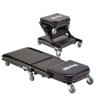 40 in. 450 lbs. Capacity Z Creeper 2 in 1 Creeper and Seat