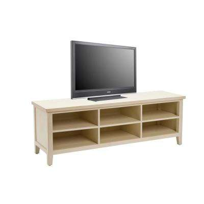 American Home Shelves Off White Storage Entertainment Center